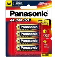 Alkaline AA Batteries 4Pack Blister Pack
