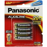 Alkaline AAA Batteries 4Pack PANASONIC