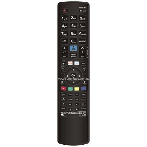 Replacement LG SMART TV 3D MY APPS Universal Remote Control No Programming suits